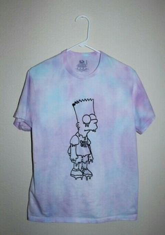 t-shirt tie dye cartoon shirt