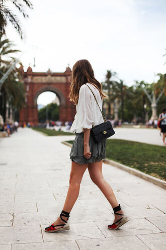 my daily style blogger blouse skirt shoes bag