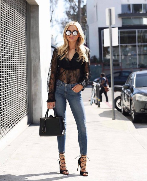 b0a395c1e86c shirt tumblr see through see through top lace black lace top lace top sandals  sandal heels