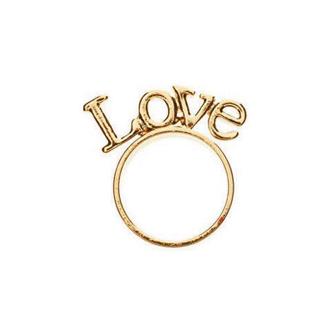LOVE STAND RING - Rings & Tings | Online fashion store | Shop the latest trends