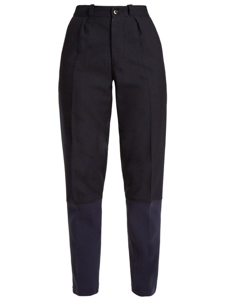 wool blue pants