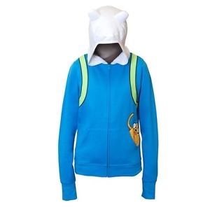 Adventure Time Finn Jake In Pocket Juniors Blue Hoodie Hoody Sweatshirt | eBay