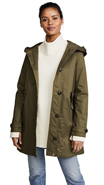 parka shiny green coat