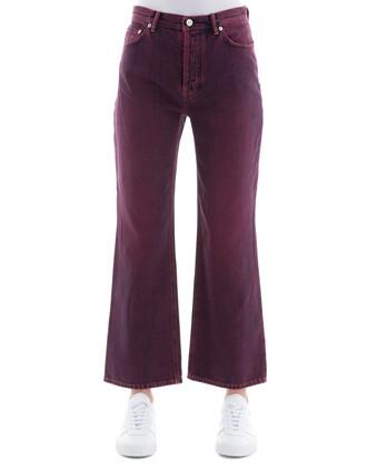 pants cotton purple
