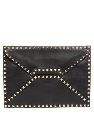 envelope clutch clutch leather black bag