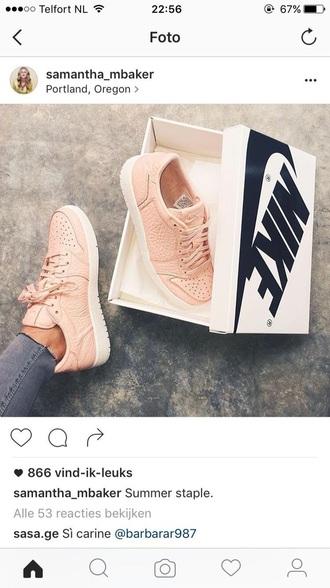 shoes pink nude nike nike shoes
