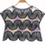 Black Short Sleeve Embroidered Sheer Mesh Yoke Top - Sheinside.com