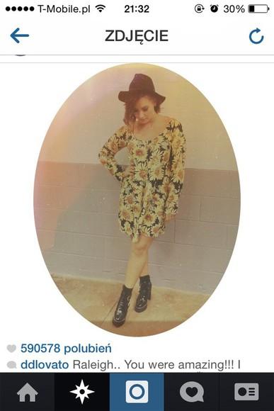 sunflower sunflower dress demi lovato sunflower clothing demi lovato skirt