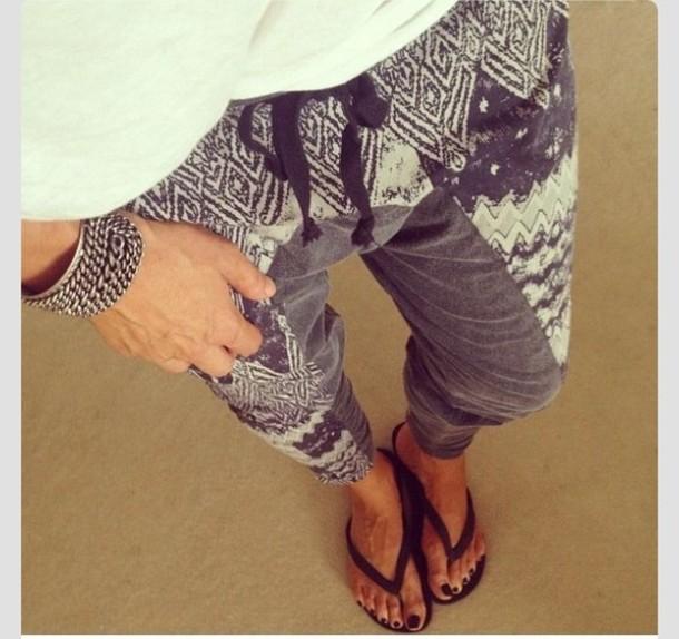 pants harem pants grey