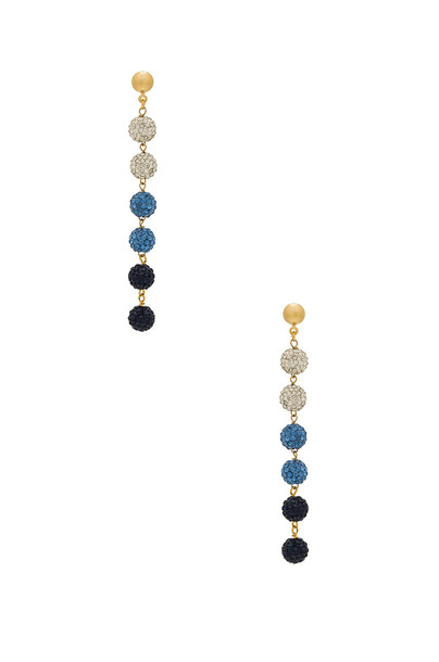 Frasier Sterling earrings blue jewels