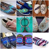 shoes,toms shoes women,colorful,feathers,peacock feathers,dreamcatcher,paris,starry night,love more,aztec,toms,cherry blossom,flats,casual