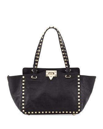 Valentino Rockstud Mini Tote Bag, Black - Neiman Marcus