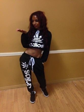 jumpsuit joggers cropped hoodie athletic sexy adidas nike workout