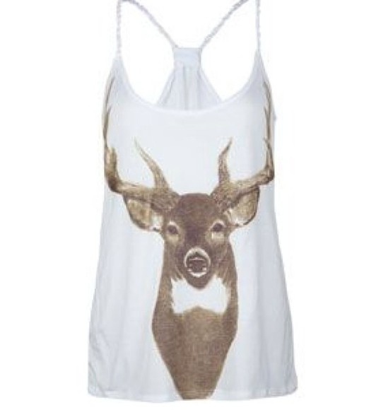 deer deer tank deer tank top adorable fashion cute shirt cute tank top style