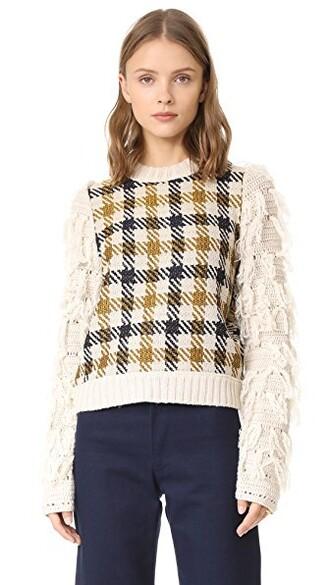 sweater black yellow cream