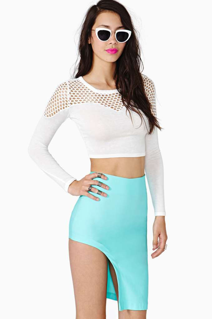Circuit Curve Skirt in  What's New at Nasty Gal
