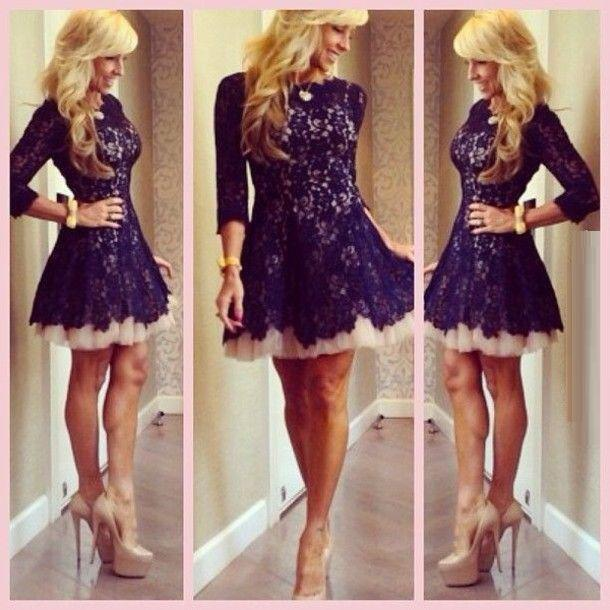 Homecoming Dresses Under 50 Dollars Lace Homecoming Dresses Bateau Neck  Short Mini Length Prom Gowns Lace Dresses With 3/4 Long Sleeves Factory  Custom ...