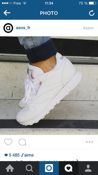 shoes reebok tumblr white shoes sneakers trendy