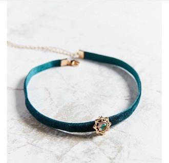 jewels choker necklace velvet choker velvet blue turquoise pretty etsy