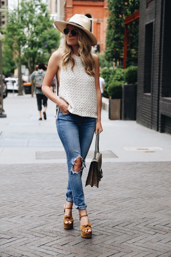 somewherelately blogger jacket blouse jeans hat shoes sunglasses