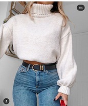 sweater,shirt,nude,turtleneck,turtleneck sweater,long sleeves,knit,top,pull-over