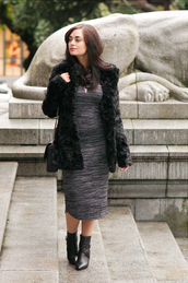 coco and vera,blogger,bag,jewels,faux fur,faux fur jacket,fall outfits,black boots