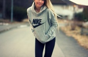 sweater,nike,shirt,hoodie,jacket,grey nike jumper