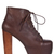 Jeffrey Campbell Lita Brown Distressed Platform Heel Pump Leather Sz Women New | eBay