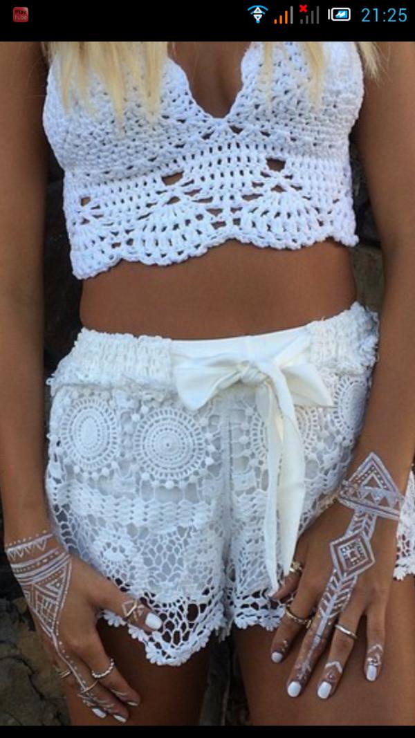 shorts short blanc