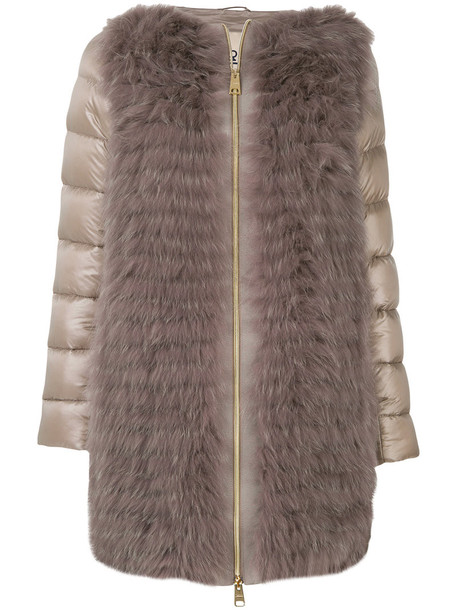 coat fur women nude cotton