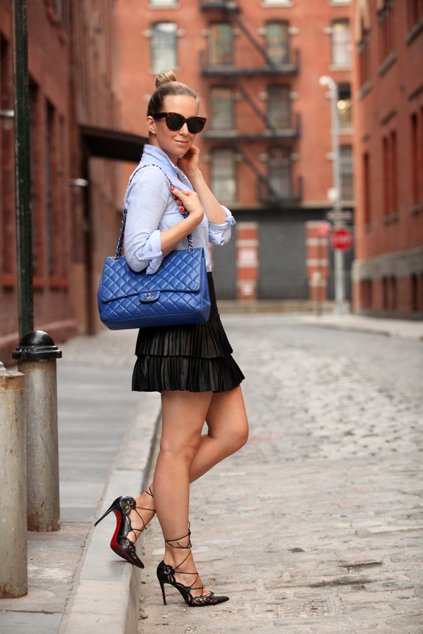 brooklyn blonde skirt shoes bag