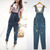 1pc M Women Denim Pants Loose Hole Overalls Jumpsuit Pants Hip Hop Pants Jeans | eBay