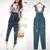 1pc M Women Denim Pants Loose Hole Overalls Jumpsuit Pants Hip Hop Pants Jeans | eBay
