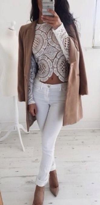 shirt lace white