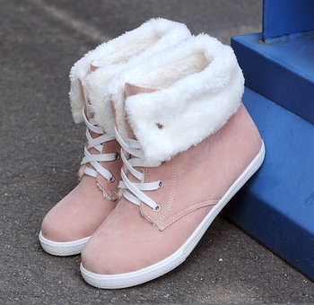 Free shipping autumn winter sweet gentle women round toe snow boots casual sports shoes martin boots.2 color size:34 40