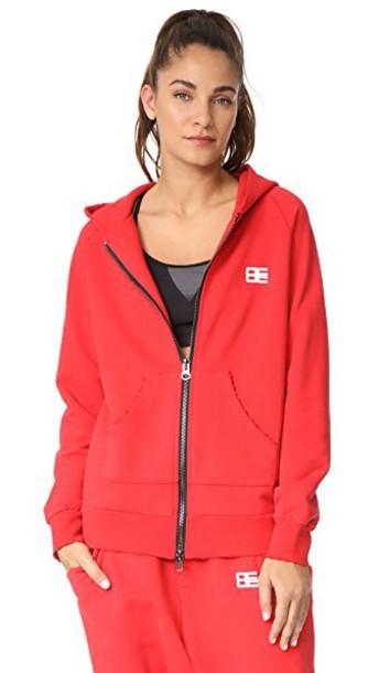Baja East hoodie zip red sweater