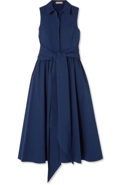 Michael Kors Collection dress midi dress midi cotton blue