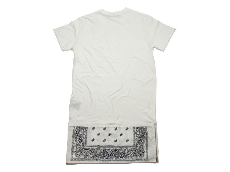 Re Stocked! S/S LAYERED T-SHIRTS White/再入荷! 半袖 バンダナ レイヤード Tシャツ ホワイト