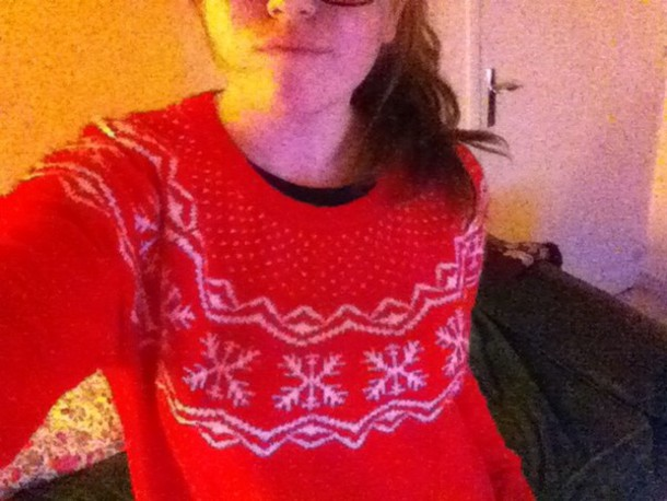 sweater red dress hipster cute