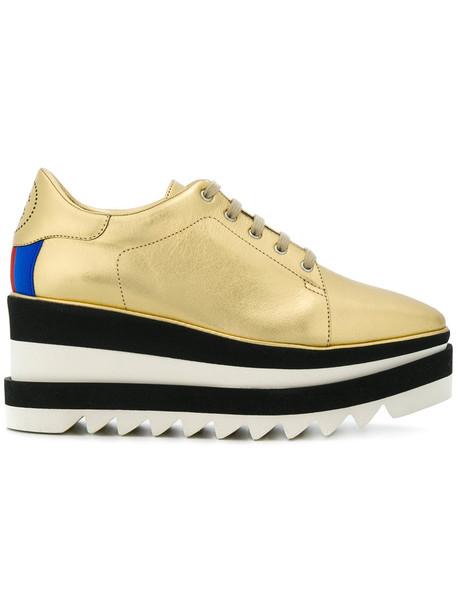 Stella McCartney women shoes platform shoes leather grey metallic