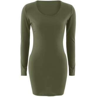 dress casual green long sleeves trendy fashion style fall outfits trendsgal.com