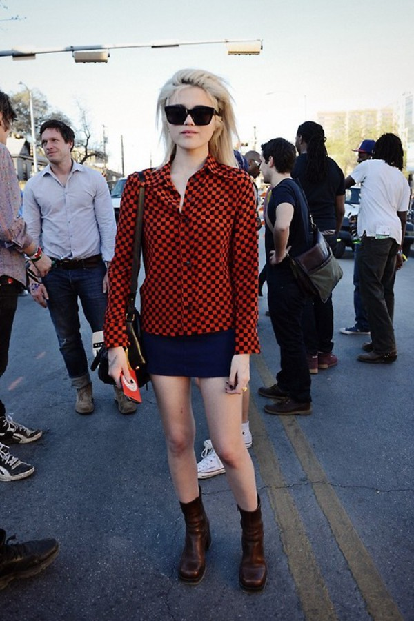 shirt skirt mini skirt sky ferreira