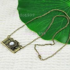 Retro Vintage Brass Camera Pendant Necklace Retro Style | eBay