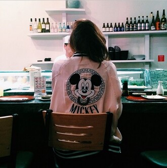 jacket pink mickey mouse
