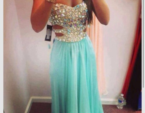 pretty dress sexy dress prom blue dress sparkly homecoming dress blue baby blue cheap prom dresses discount cut out dresses diamonds