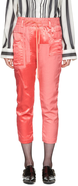 pants patchwork pink