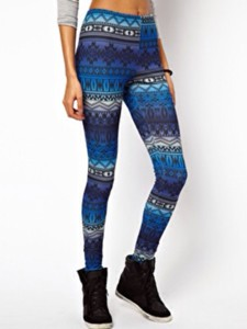 aztec aztec print blue pants leggings aztec print leggings colors