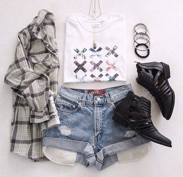 blouse grey flannel boots t-shirt jewels socks shoes shorts coat black the xx music grunge tank top