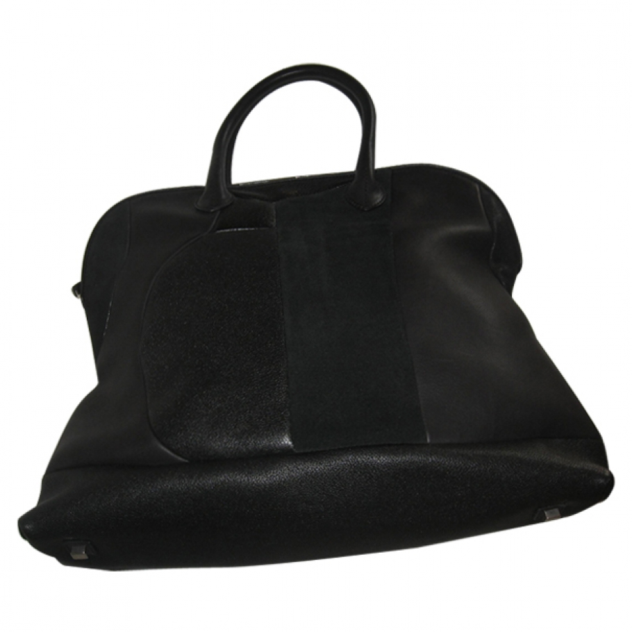 celine black patchwork bowling bag