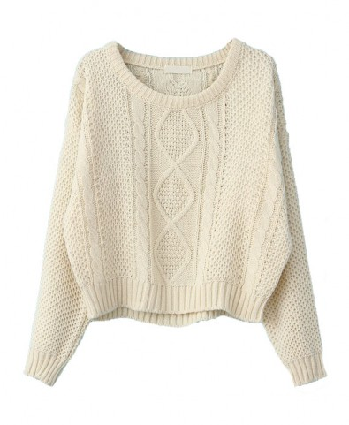 Vintage Hemp Knitted Pullovers with Short Cut - Knit Tops - Pullover - Knitwear - Clothing
